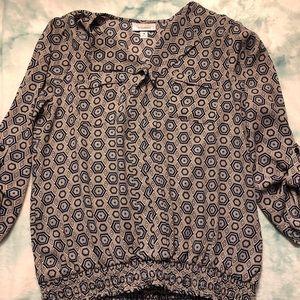 Trippy pattern sheer like blouse